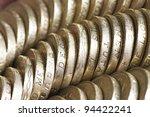 Macro Of British One Pound...