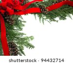 a decorative border with red... | Shutterstock . vector #94432714