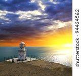 Lighthouse On A Sea Coast
