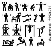 man people athletic gym... | Shutterstock .eps vector #94436794