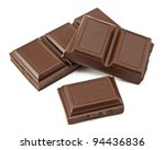 chocolate bars isolated on... | Shutterstock . vector #94436836