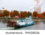 Ferry Or Steam Boat In Portlan...