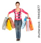 woman on a shopping spree | Shutterstock . vector #94443877