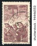 france   circa 1938  a stamp... | Shutterstock . vector #94446553