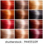 hair colors set. tints | Shutterstock . vector #94455109