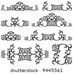 jpeg version. decorative set... | Shutterstock . vector #9445561
