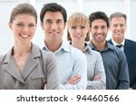 happy smiling business team... | Shutterstock . vector #94460566