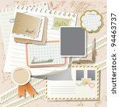 vintage scrapbook elements on... | Shutterstock .eps vector #94463737