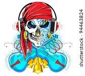Illustration Of Skull Wearing...