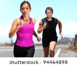 runners   couple running... | Shutterstock . vector #94464898