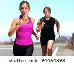 runners   couple running... | Shutterstock . vector #94464898