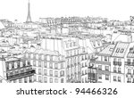 vector illustration of roofs in ...