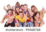 multi ethnic group people. ... | Shutterstock . vector #94468768