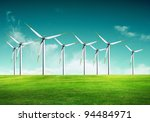 ecology   wind of change | Shutterstock . vector #94484971