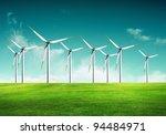 ecology   wind of change | Shutterstock . vector #94484971