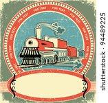 Locomotive Label.vintage Style...