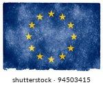 grungy european union flag on... | Shutterstock . vector #94503415