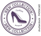 Fashion Shoe Stamp With Words...