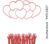 loving hands design. valentines ...   Shutterstock .eps vector #94511827