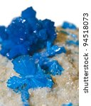 Small photo of Blue Cavansite crystals.