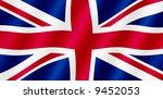british union jack flag blowing ... | Shutterstock . vector #9452053