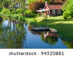 Old Red Wooden House In The...