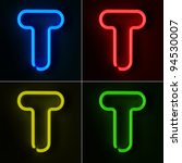 highly detailed neon sign with... | Shutterstock . vector #94530007
