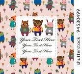 winter animal card | Shutterstock .eps vector #94530499