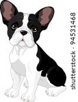french bulldog  sitting in... | Shutterstock .eps vector #94531468