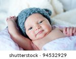 cute blue eyed newborn baby in... | Shutterstock . vector #94532929