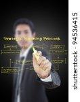 businessman write business... | Shutterstock . vector #94536415