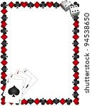 playing cards with border | Shutterstock . vector #94538650