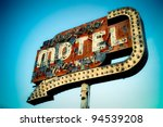 vintage neon motel sign | Shutterstock . vector #94539208