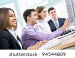 business people working at a... | Shutterstock . vector #94544809