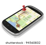 smart phone navigation   mobile ... | Shutterstock . vector #94560832