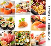 japanese food collage | Shutterstock . vector #94565131
