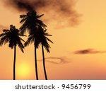 tropical sunset | Shutterstock . vector #9456799