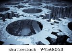 3d image of rusted gears | Shutterstock . vector #94568053