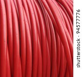 Plastic Red Rolled Up Hose Or...