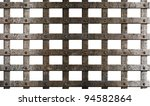 Ancient Metal Cage Isolated On...