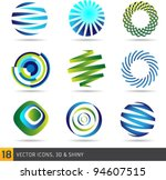 collection of abstract vector... | Shutterstock .eps vector #94607515