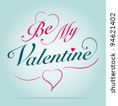 be my valentine card | Shutterstock .eps vector #94621402