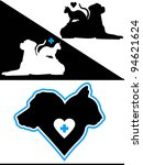Stock photo dog and cat silhouette design elements 94621624