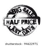 black half price stamp isolated ... | Shutterstock .eps vector #94622971