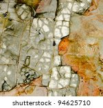 Orange And Grey Textured Rock...