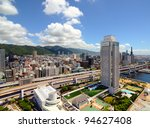 kobe Japan cityscape - stock photo