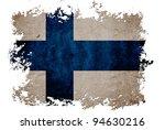 finland flag on old vintage... | Shutterstock . vector #94630216