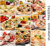 pizza collage | Shutterstock . vector #94630561
