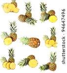 pineapple isolated on white... | Shutterstock . vector #94647496