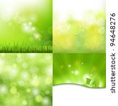 4 Nature Background  Vector...